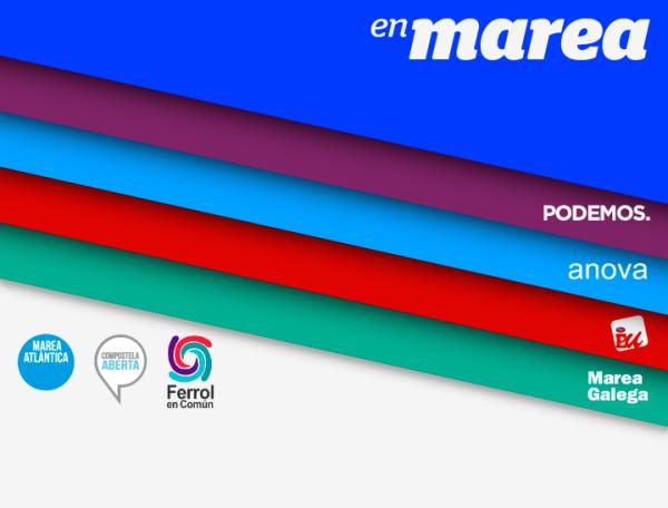 Logotipo definitivo de 'En Marea'.