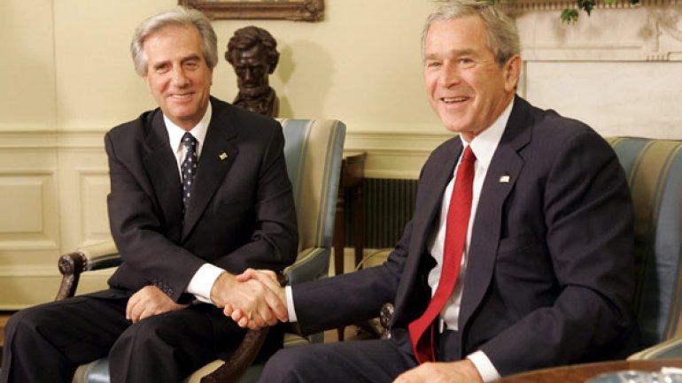 Vázquez fai uns anos na súa reunión con George W. Bush | ©infobae.com