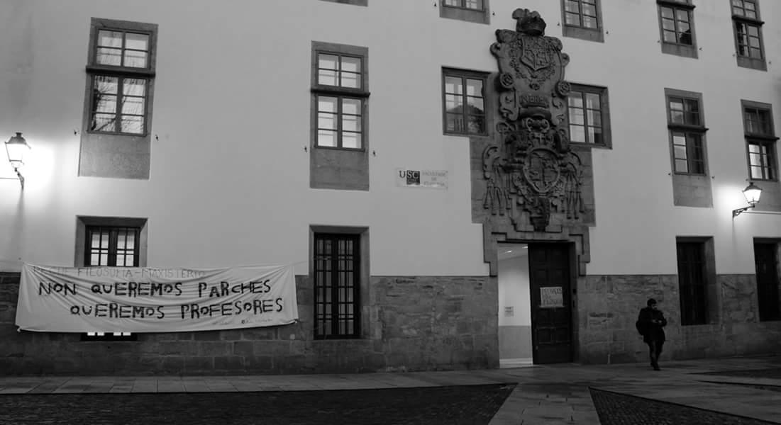 Non é a primeira vez que os estudantes de Filosofía se pechan na facultade para reivindicar os seus dereitos | © Peche Filosofía