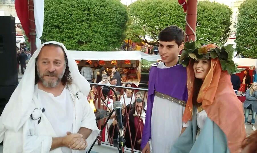 Ana y Diego, durante la celebración de su boda romana |©Paula Martínez Graña