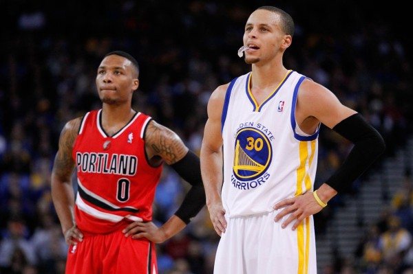 Damian Lillard y Stephen Curry | ©thehalkreport