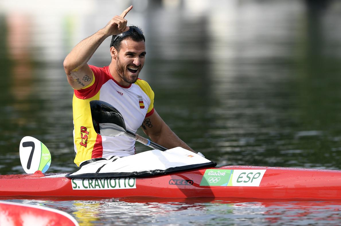 Saúl Craviotto celebra la consecución de la medalla de bronce en Río | ©El Periódico