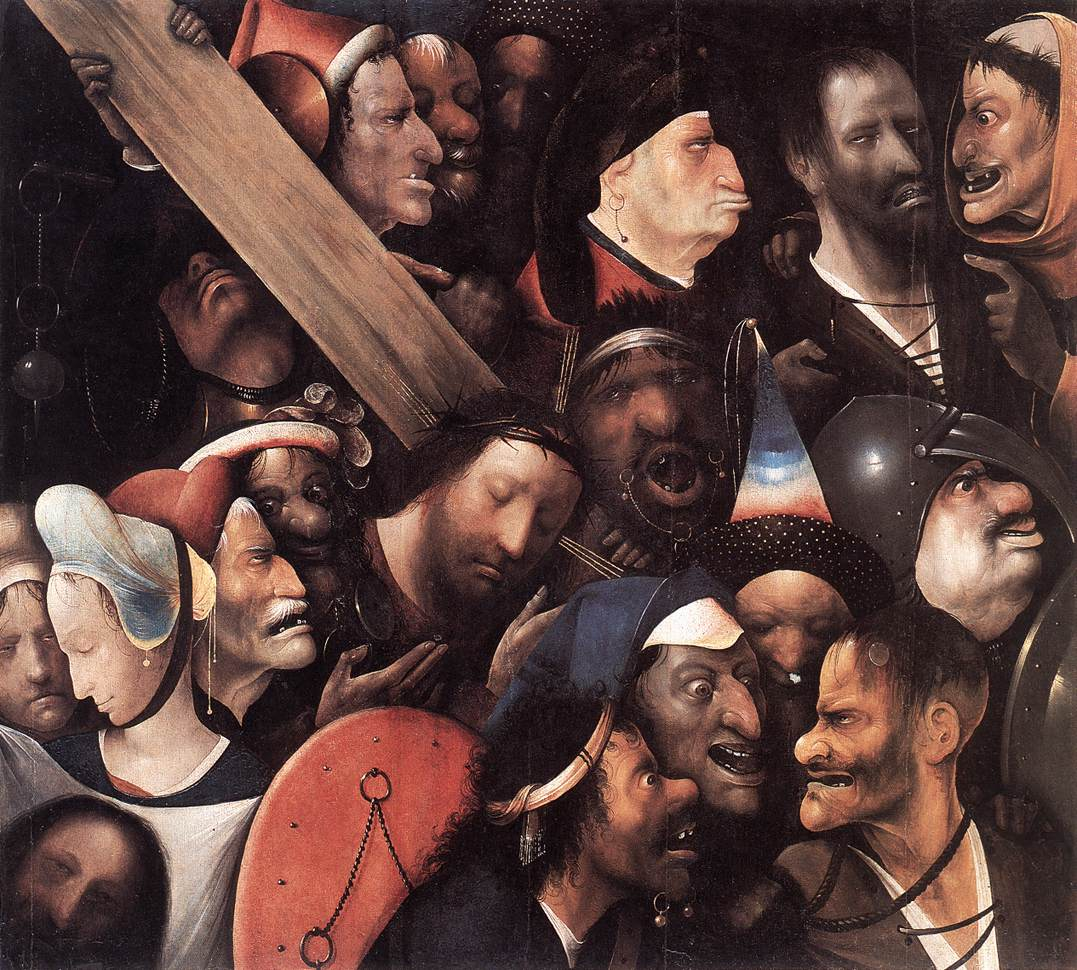 Hieronymus Bosch: Cristo con la cruz a cuestas, 1515 – 1516 | © laexuberanciadehades.wordpress.com