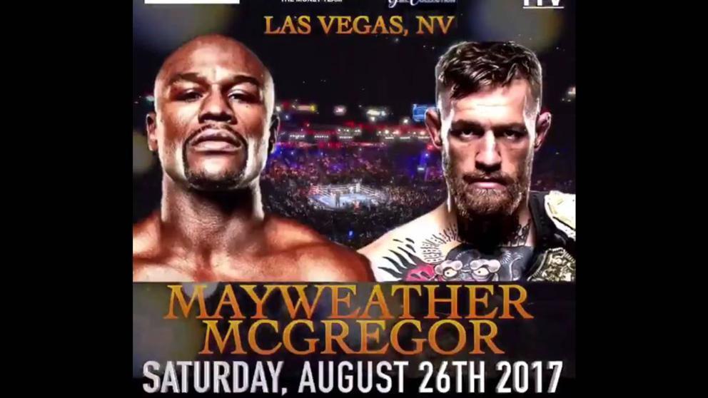 Primer cartel del combate Mayweather -  McGregor. @FloydMayweather