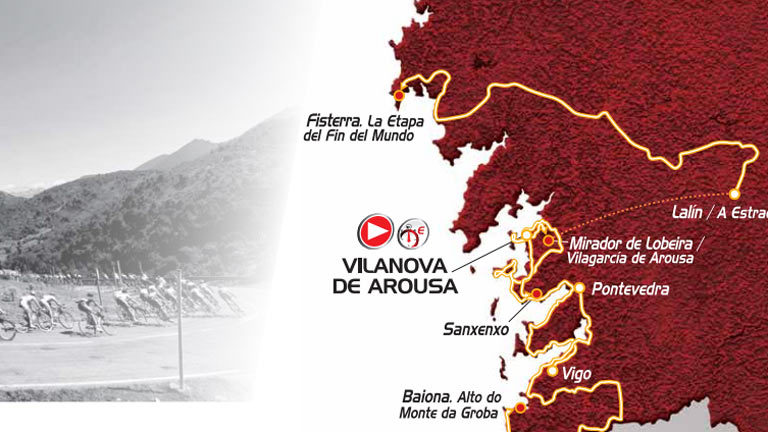 Etapas da Vuelta 2013 en Galicia