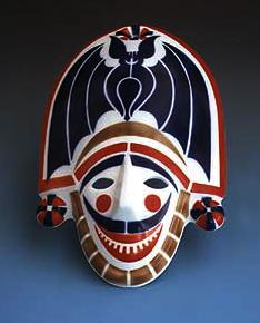 Clásica máscara de entroido de Sargadelos, mostra da perfección estética e do compromiso cultural da empresa