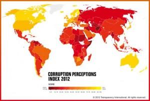 Índice de Percepción de Corrupción (2012).