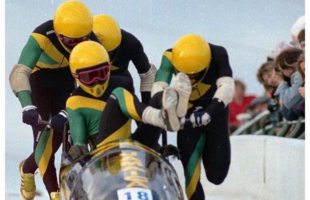 """Equipo xamaicano competindo en Calgary - Foto: Blog """"Las batallitas del abuelo"""""""