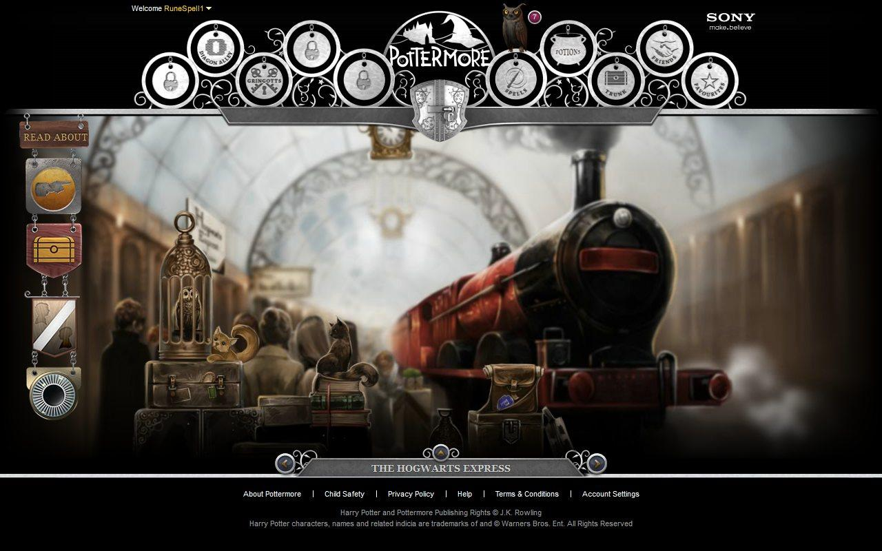 pottermore - expreso de hogwarts