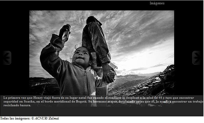 Testimonio de un desplazado colombiano
