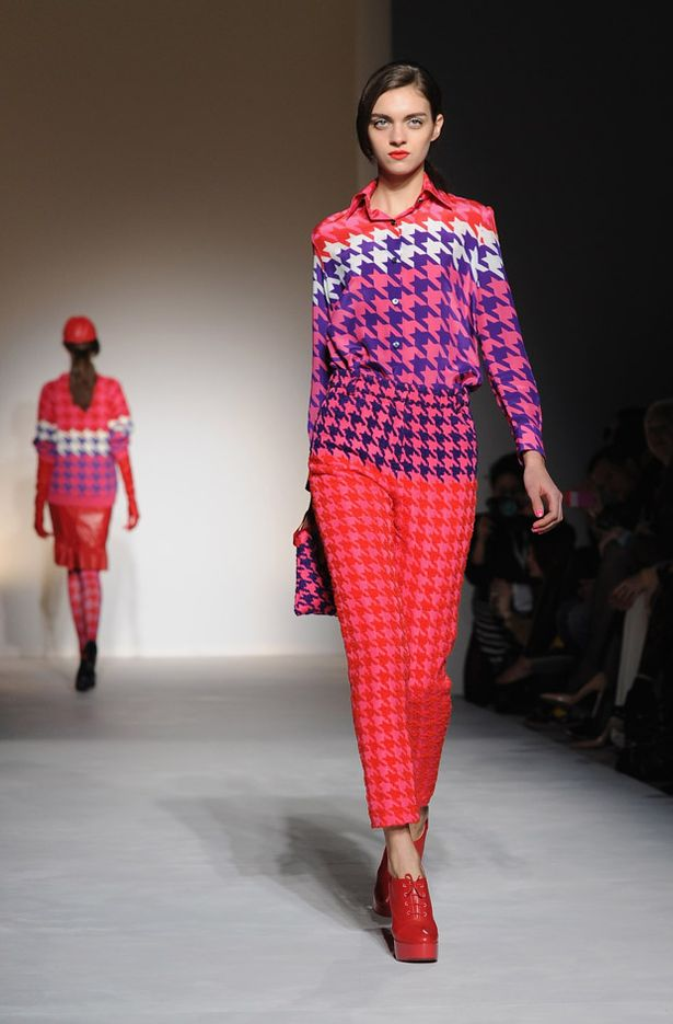 5. House of Holland for all the houndstooth they sent down their AW12 catwalk (year ago) mirror.co.uk