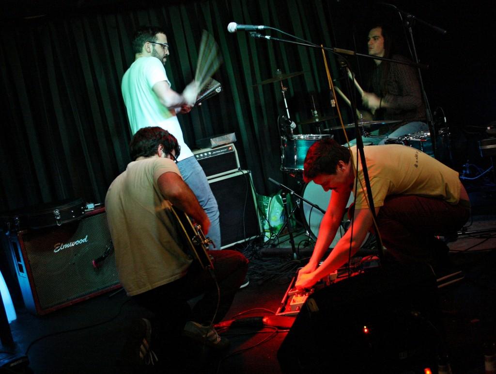 Gon, Berto, Pau e Edu improvisando ©Sara Yáñez