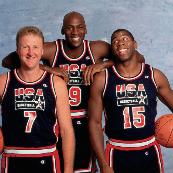 O Dream Team de Barcelona 92 con Bird, Jordan e Magic