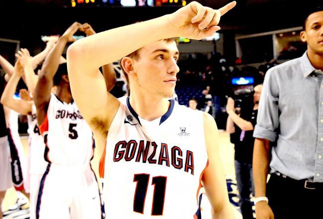 O equipo da Universidade de Gonzaga / Foto de bleachreport.com