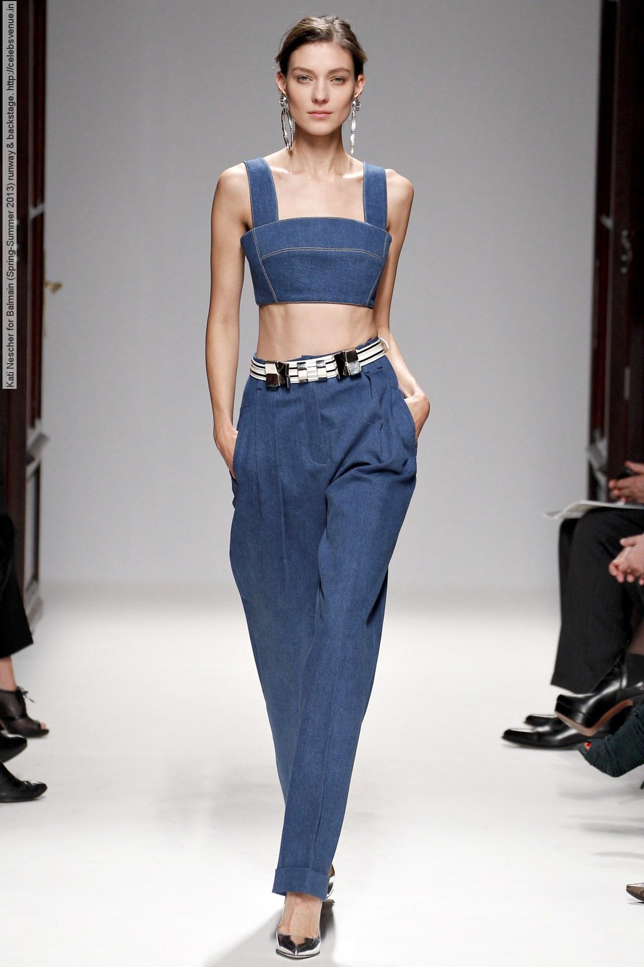 Kati Nescher for Balmain (Spring-Summer 2013) runway & backstage