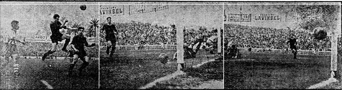 Secuencia dun dos goles do Atlético. Foto: Mundo Deportivo