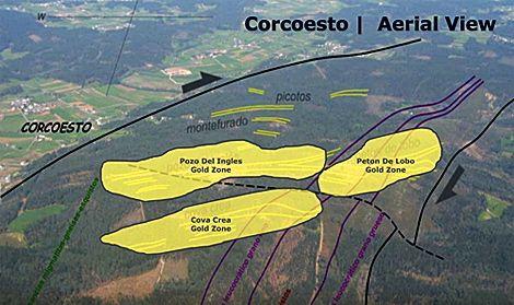 Vista aérea da zona mineira