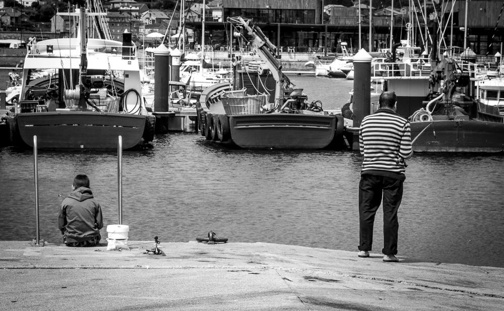 Padre e hijo, de pesca. © Charlie Peartree