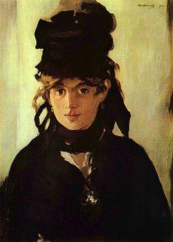 Retrato de Berthe Morisot feito por Manet | wikipedia.org