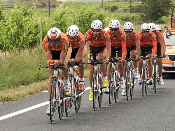 Euskaltel-Euskadi durante unha crono por equipos / Fonte: Marca