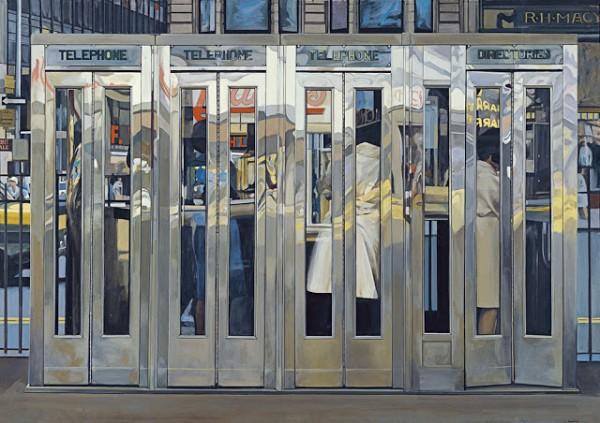Cabinas telefónicas, Richard Estes | © http://museothyssen.org