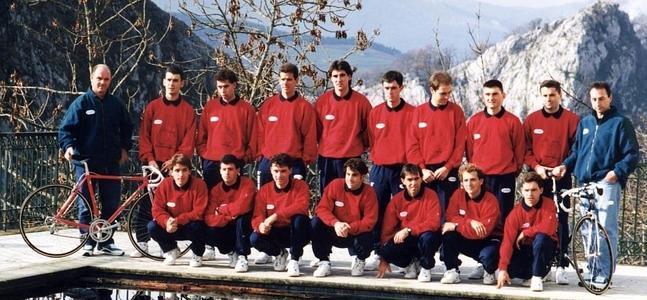 Formación orixinal do equipo Euskadi / Fonte: El Correo