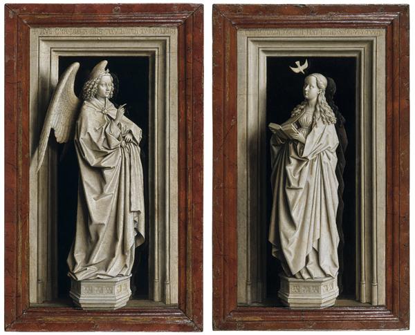 Díptico de la Anunciación, Jan van Eyck | © http://arteylibros.es
