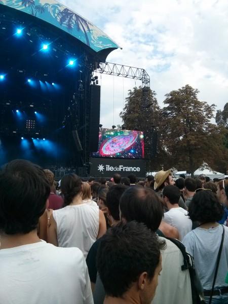 Tame Impala (ou a súa plasmación gráfica) nas pantallas do festival   J. P.