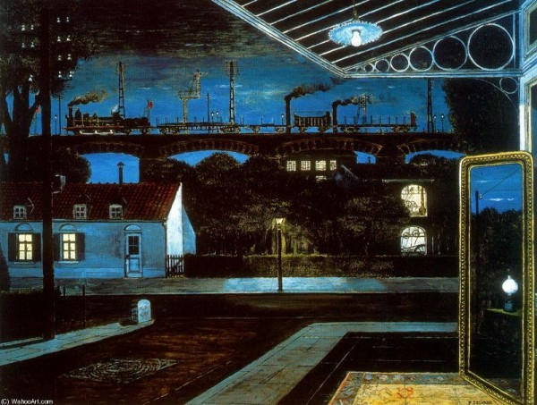 Viaducto, Paul Delvaux | © http://museothyssen.org