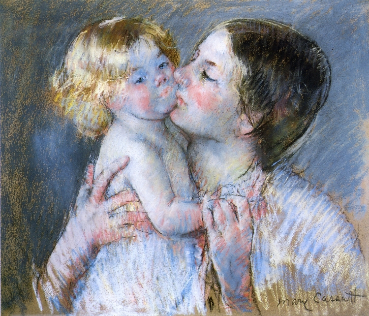 A kiss for baby Anne | wikipaintings.org