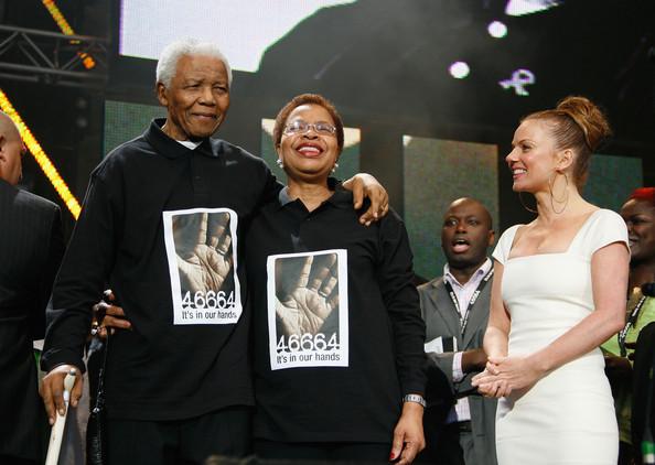 Nelson Mandela e Graça Machel no concerto benéfico de Hyde Park (2008)Gareth Davies (Getty Images)