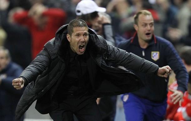 O Cholo celebrando un gol no Calderón | ©Ángel Martínez
