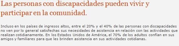 Fuente: Organización Mundial de la Salud, 10 datos sobre la discapacidad.