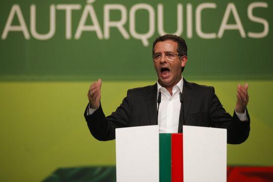 António José Seguro, líder do PS, durante a Convenção Nacional Autárquicas 2013.Fonte: abola.pt / Autor: José Sena Goulão