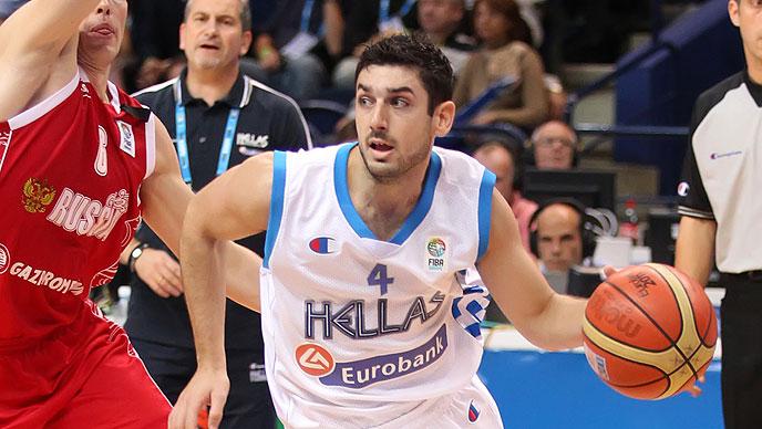 Vassilis Xanthopoulos, unha das fichaxes máis destacable do equipo, xogando coa selección grega   ©Espacio Liga Endesa