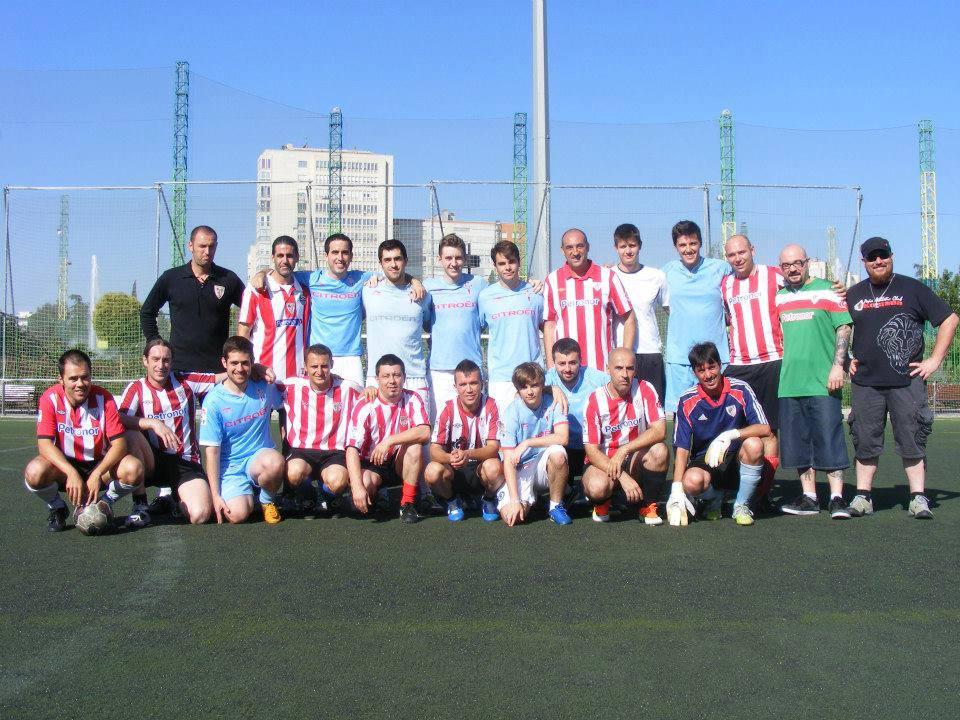 Trofeo Interpeñas no que participaron as peñas de Celta, Deportivo, Athetic e Real Sociedade en Madrid ©Morriña Celeste