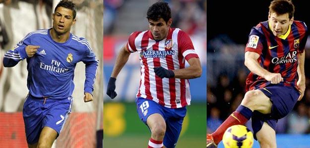 Real Madrid, Atlético y Barcelona serán los tres equipos que se disputen la Liga | Fuente: rtve