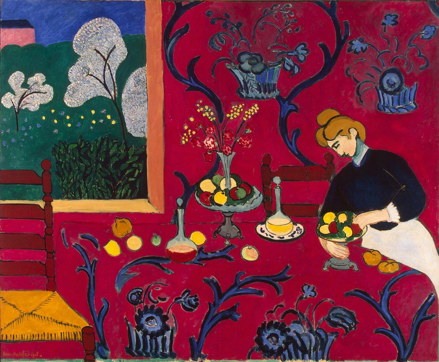 Henri Matisse, Armonía en rojo 1909   nelmezzodelcammin.es