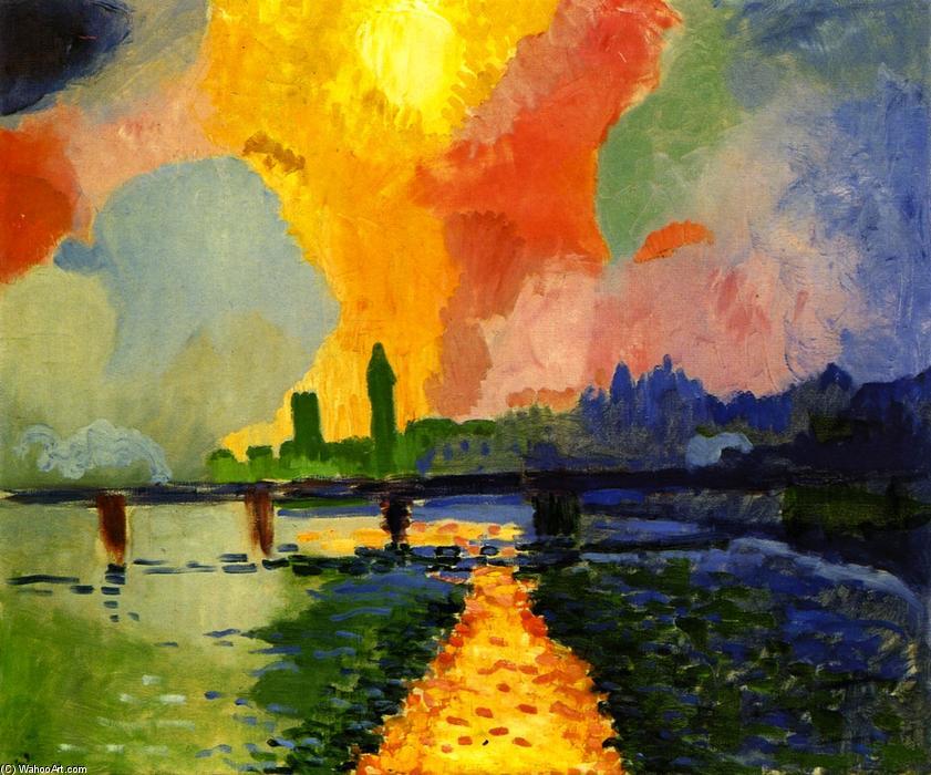 André Derain, El puente de Charing Cross (1905)    wahooart.com