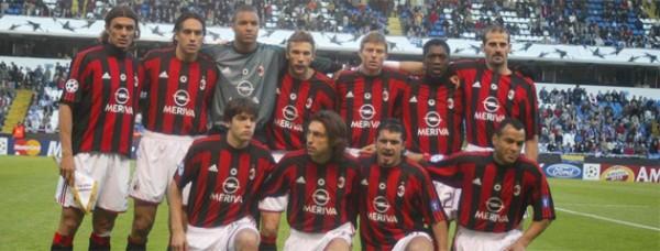 Once inicial que presentó el Milán en Riazor | Vía marca.com