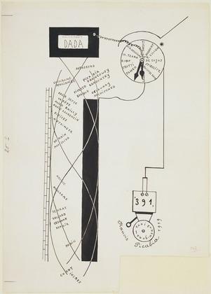 Francis Picabia, Dada Movement (1919)   moma.org