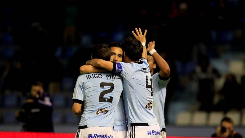 Orellana abriu o camiño para lograr unha victoria importante ante o Almería - ©La Voz de Galicia