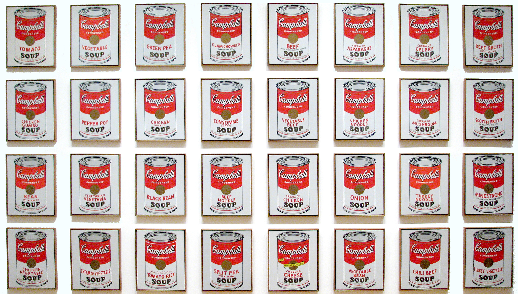 Andy Wahol, Campbell's Soup Cans (1962)   museografo.com