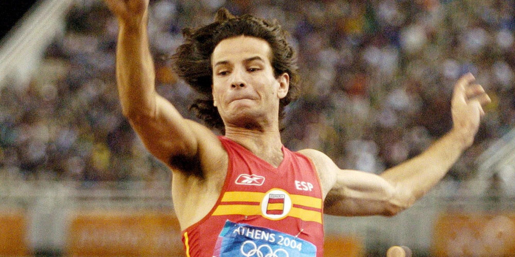 Yago Lamela realiza un dos seus grandes saltos. | Fonte: El Huffington Post