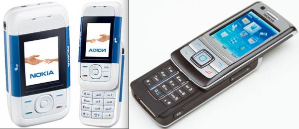 A la izquierda, el Nokia 5220. A la derecha el 6280.