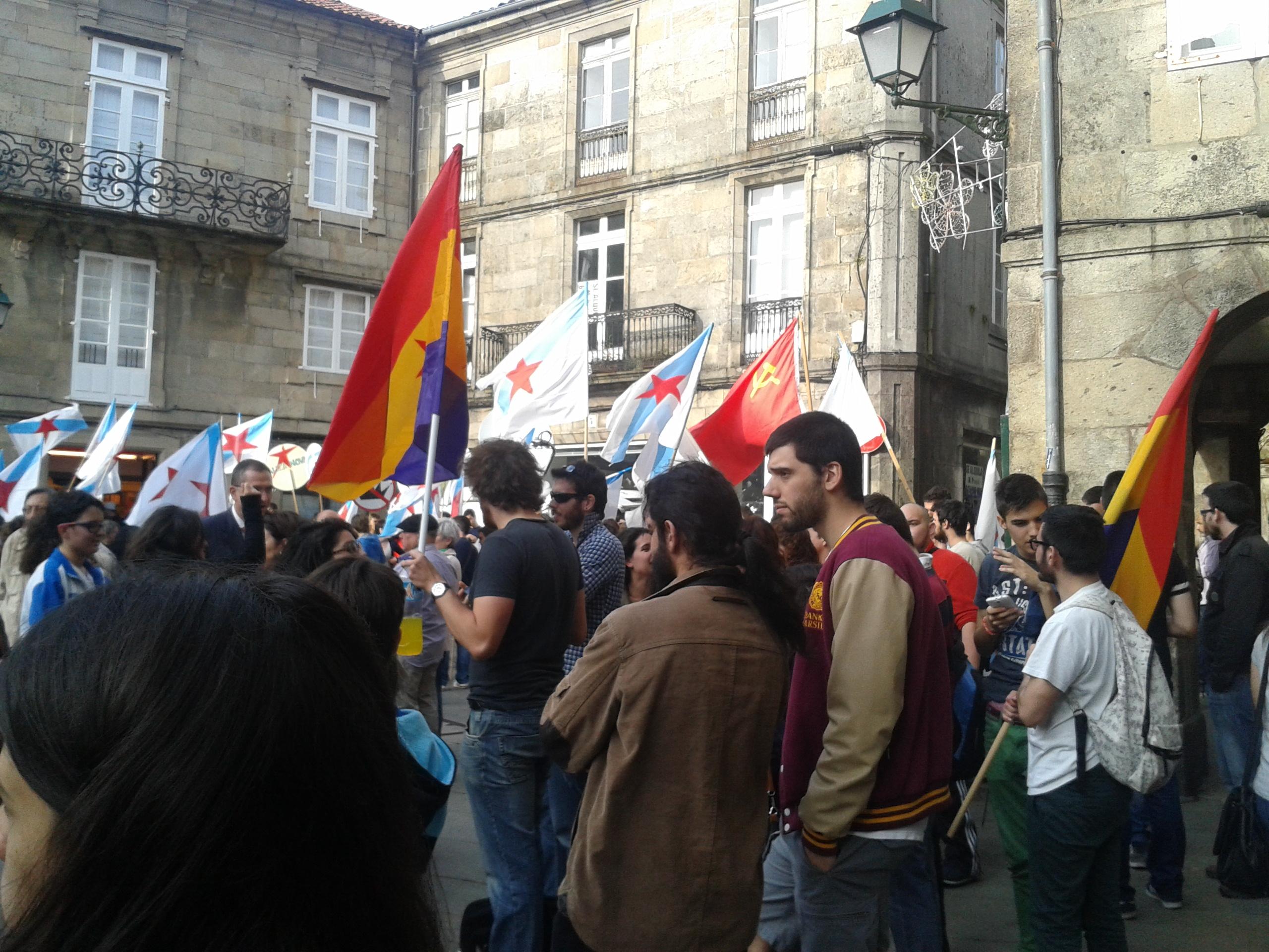 Un instante da manifestación en Compostela// © Darío Domínguez