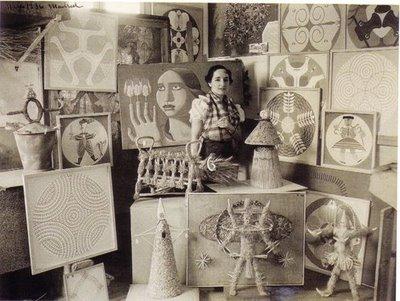 Maruxa, no seu estudo madrileño en 1936