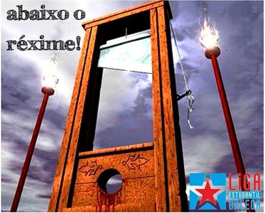 Outra guillotina republicana// Facebook