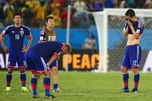 Yamaguchi, Honda y Yoshida lamentan su eliminación ante Colombia (Foto: Mark Kolbe / Getty Images).
