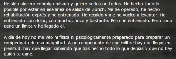 Castillejo explica su renuncia en su blog personal